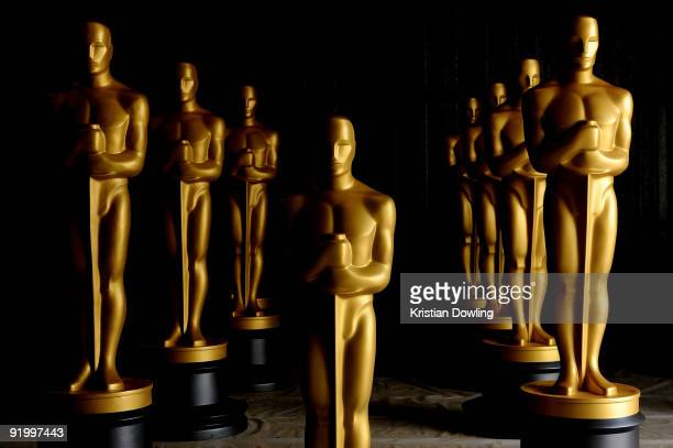 Freshly painted Oscar Statues in preparation for the Governors Awards and the 82nd Academy Awards at a secret location on October 19 2009 in Northern...