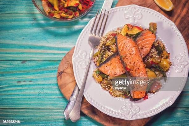 Freshly Pan-Fried Salmon With Couscous