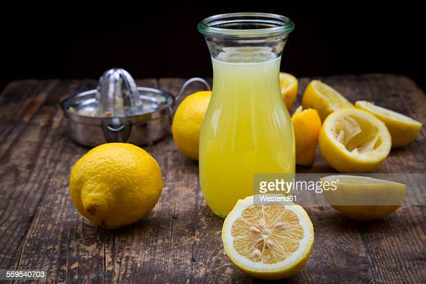 Freshly squeezed lemon juice, organic lemons, lemon squeezer