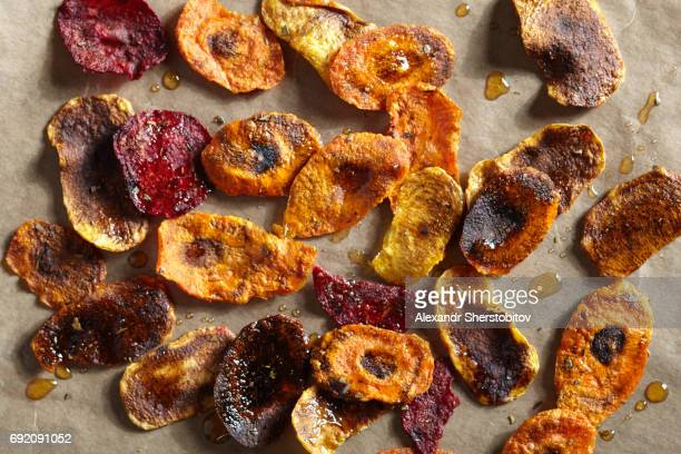 Freshly vegetables chips