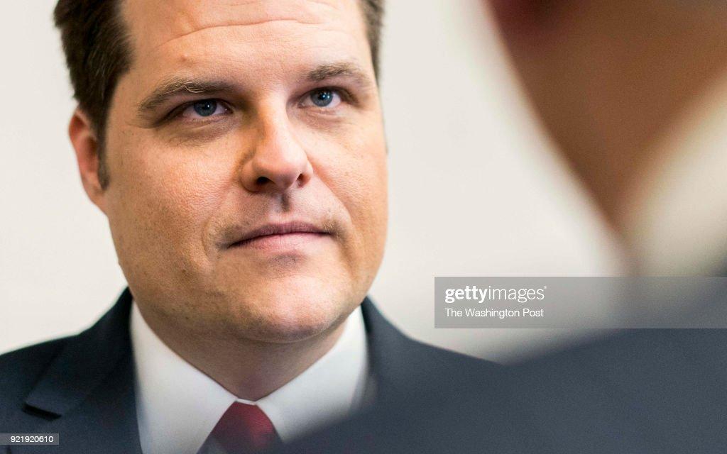 Freshman Congressman Matthew Gaetz of Florida's 1st Congressional district : News Photo