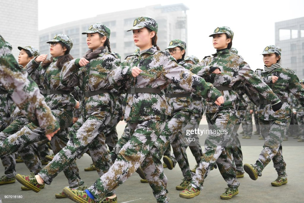 Freshman Students Attend Winter Military Training In Hangzhou