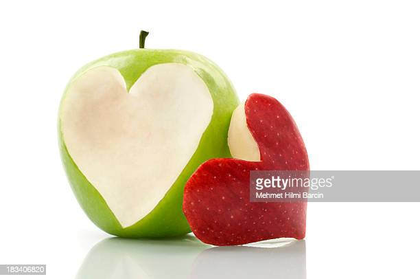 Freshness Apple With Heart Symbol