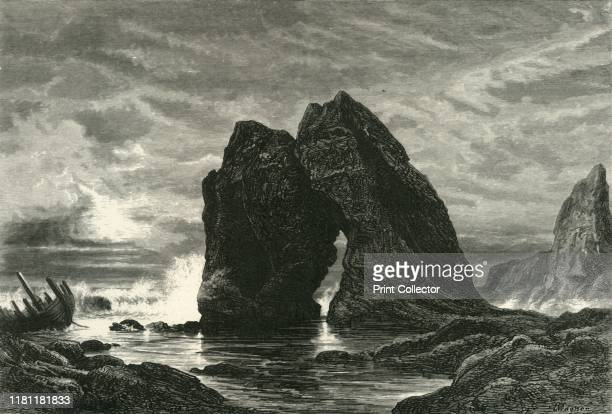 Freshwater Bay, Isle of Wight', circa 1870. Arch Rock, a well-known local landmark at Freshwater Bay on Isle of Wight collapsed on 25 October 1992....