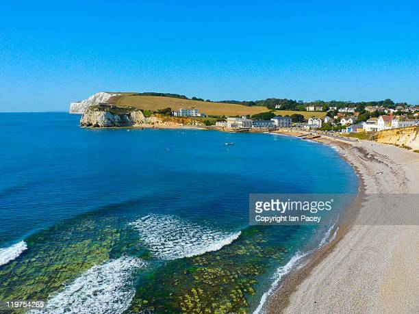 freshwater bay - isle of wight stock pictures, royalty-free photos & images