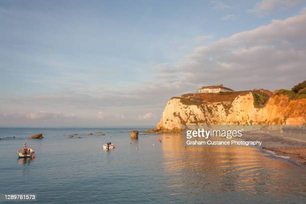 freshwater bay - freshwater bay isle of wight stock pictures, royalty-free photos & images