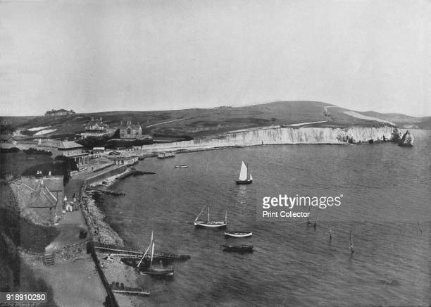 'Freshwater Bay - The Town and the Bay', 1895. From Round the Coast. [George Newnes Limited, London, 1895]Artist Unknown.