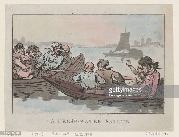 Fresh-Water Salute, 1799. Artist Thomas Rowlandson.
