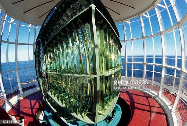 Fresnel lens used in the lamp Lille Torungen lighthouse deactivated in 1914 near Arendal AustAgder County Norway