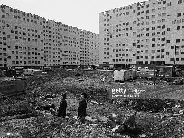 Fresnes Suburbs Scene Two Children In The Hlm Site 1960