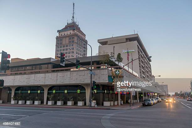 Fresno downtown in Central California