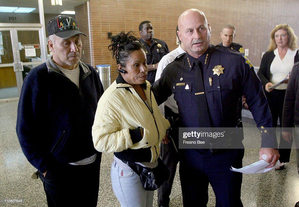 Fresno Police Chief Jerry Dyer Right Escorts Patricia Cardenas And Ramon Ceballos To A Press Conference