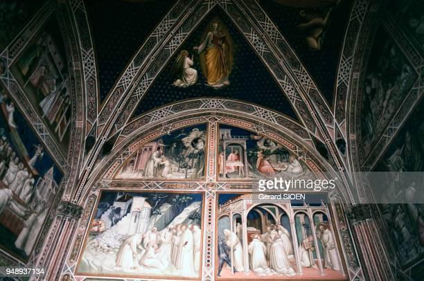 Fresques de la basilique San Miniato al Monte à Florence, en avril 1995, Italie.