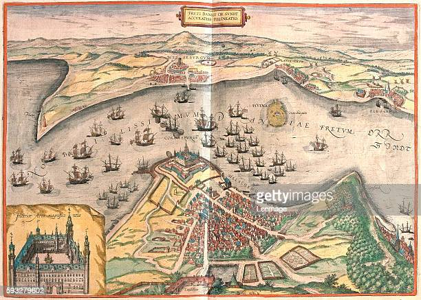 """Freti Danici or Sundt accuratiss delineatio - in volume IV of """"Civitates Orbis Terrarum"""" published in six parts between 1572 and 1617 by Georg Braun..."""