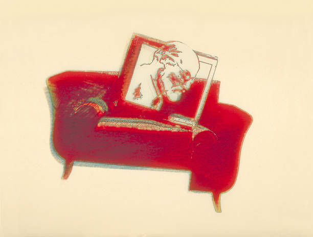Freud and his couch illustration