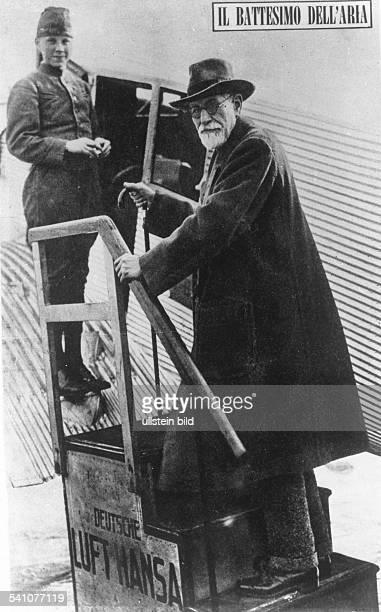 Freud, Sigmund *06.05.1856-+Wissenschaftler, Psychoanalytiker, ÖsterreichFreuds einziger Flug- 1930