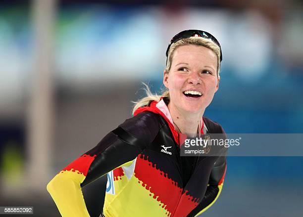 Stephanie Beckert gewinnt Silber Olympische Winterspiele 2010 in Vancouver Eisschnelllaufen 3000m Damen Speed Skating 3000m Ladies