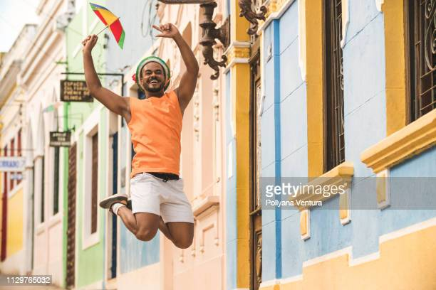 frevo dance in olinda - recife stock pictures, royalty-free photos & images