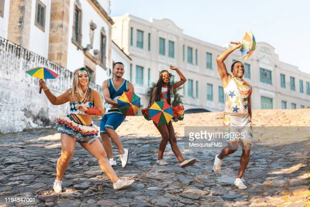 frevo dance in slope of mercy - recife stock pictures, royalty-free photos & images