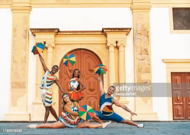 frevo dance performer - frevo imagens e fotografias de stock