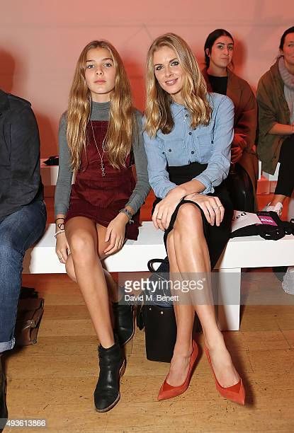 Freya Air and Donna Air attend the Verycouk fashion presentation at the Hellenic Centre Marylebone on October 21 2015 in London England