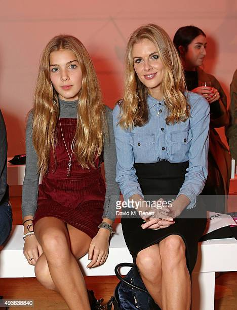 Freya Air and Donna Air attends the Verycouk fashion presentation at the Hellenic Centre Marylebone on October 21 2015 in London England