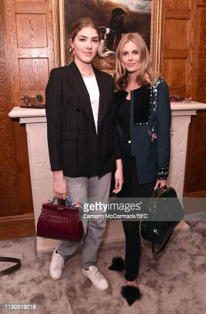 Freya Air Aspinall and Donna Air attend the Aspinal of London AW19 presentation during London Fashion Week February 2019 at the Aspinal Of London on...