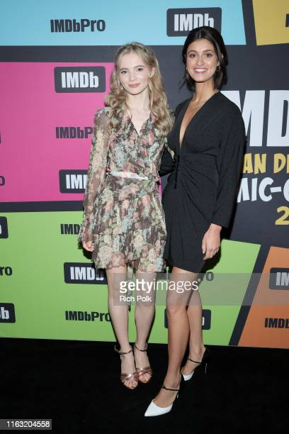Freya Allan and Anya Chalotra attend the #IMDboat at San Diego ComicCon 2019 Day Three at the IMDb Yacht on July 20 2019 in San Diego California