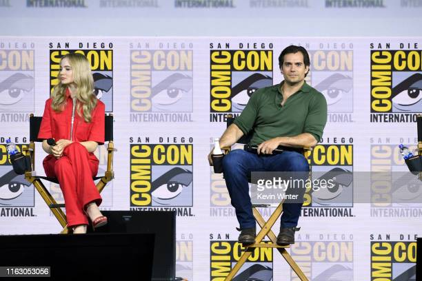Freya Allan and Henry Cavill speak at The Witcher A Netflix Original Series Panel during 2019 ComicCon International at San Diego Convention Center...