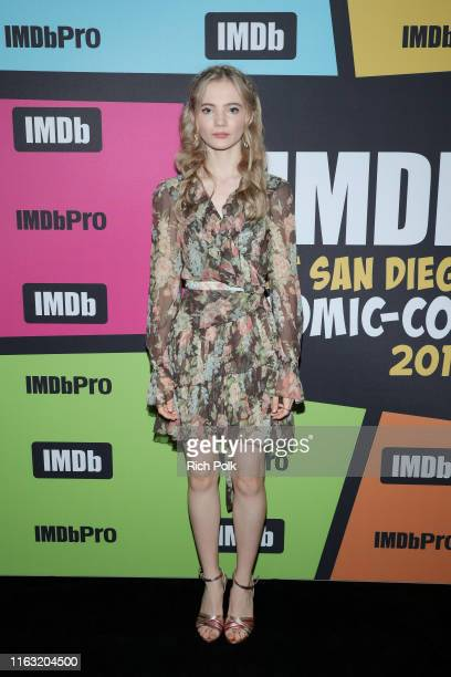 Freya Allan attends the #IMDboat at San Diego ComicCon 2019 Day Three at the IMDb Yacht on July 20 2019 in San Diego California