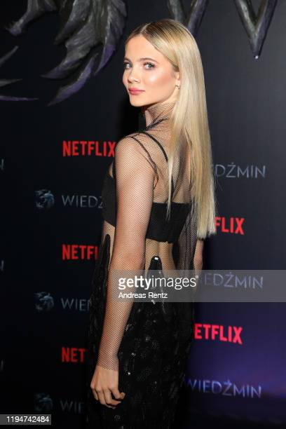 Freya Allan attends the premiere of the Netflix series The Witcher on December 18 2019 in Warsaw Poland