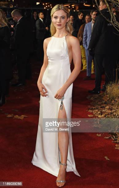 Freya Allan attends the World Premiere of Netflix's The Witcher at Vue West End on December 16 2019 in London England