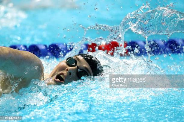Freya Anderson of Great Britain competes in the *** on day six of the Gwangju 2019 FINA World Championships at Nambu International Aquatics Centre on...