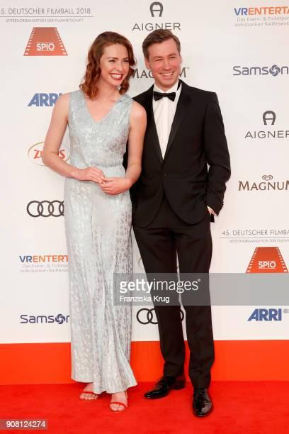 Freya Mavor and David Kross attend the German Film Ball 2018 at Hotel Bayerischer Hof on January 20 2018 in Munich Germany