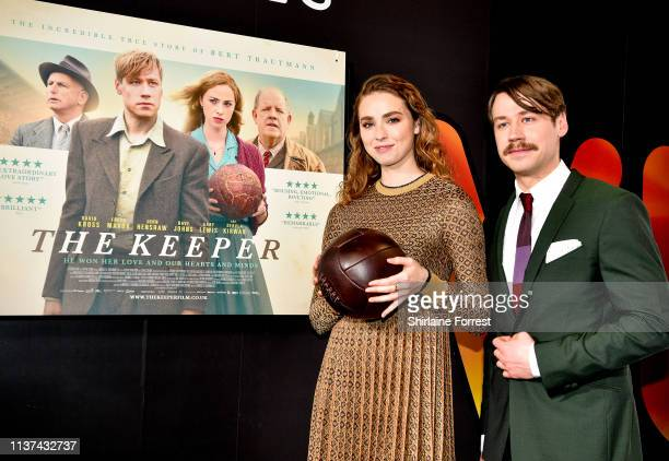 Freya Mavor and David Kross attend 'The Keeper' European Premiere at Vue Printworks on March 21 2019 in Manchester England