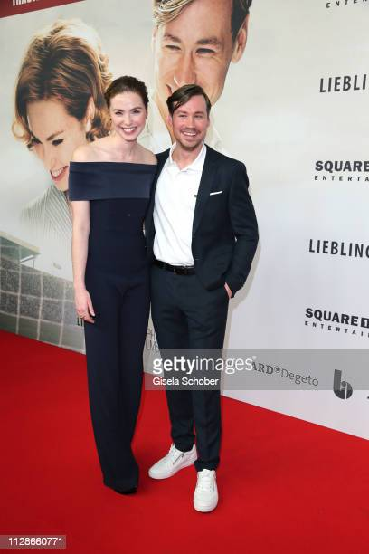 Freya Mavor and David Kross attend the premiere of the film Trautmann at Mathaeser Filmpalast on March 4 2019 in Munich Germany