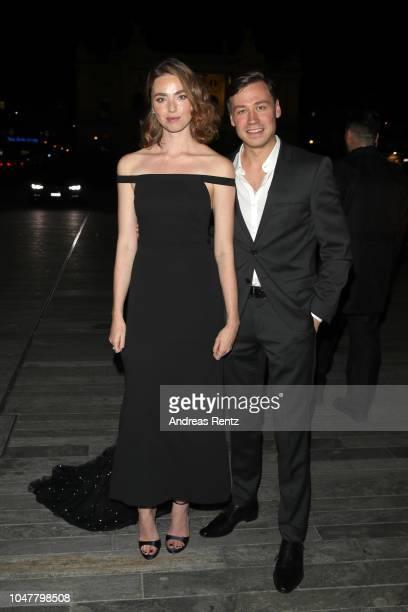 Freya Mavor and David Kross attend the 'Trautmann' premiere during the 14th Zurich Film Festival at Festival Centre on October 01 2018 in Zurich...