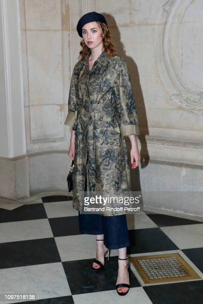 Freya Mavor attends the Christian Dior Haute Couture Spring Summer 2019 show as part of Paris Fashion Week on January 21 2019 in Paris France