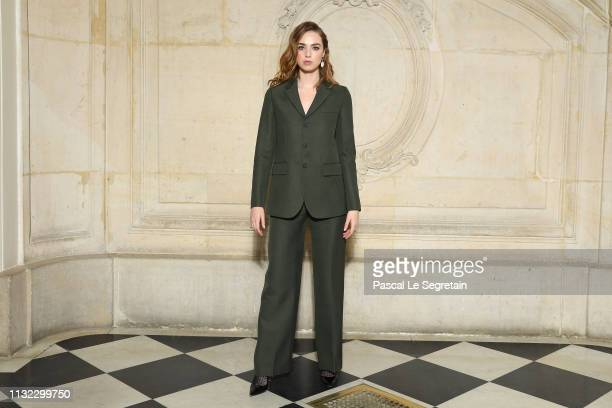 Freya Mavor attends the Christian Dior show as part of the Paris Fashion Week Womenswear Fall/Winter 2019/2020 on February 26 2019 in Paris France