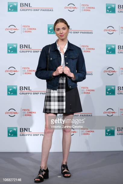 Freya Mavor attends the Dead In A Week Or Give Your Money Back photocall during the 13th Rome Film Fest at Auditorium Parco Della Musica on October...
