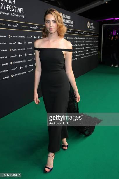 Freya Mavor attends the 'Trautmann' premiere during the 14th Zurich Film Festival at Festival Centre on October 01 2018 in Zurich Switzerland