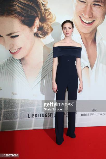 Freya Mavor during the premiere of the film Trautmann at Mathaeser Filmpalast on March 4 2019 in Munich Germany