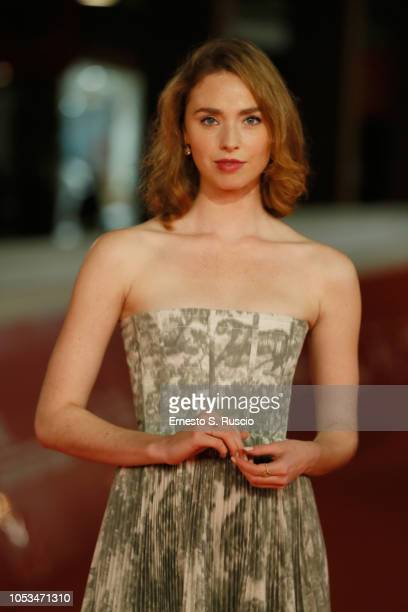 Freya Mavor walks the red carpet ahead of the Dead In A Week Or Give Your Money Back screening during the 13th Rome Film Fest at Auditorium Parco...