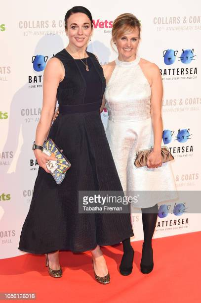 Freya North and Amanda Abbington attend the Battersea Dogs Cats Home Collars Coats Gala at Battersea Evolution on November 1 2018 in London England