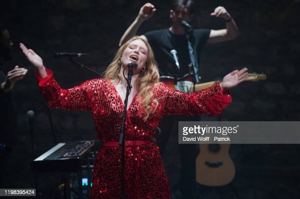 Freya Ridings performs at Cafe de la Danse on February 3 2020 in Paris France