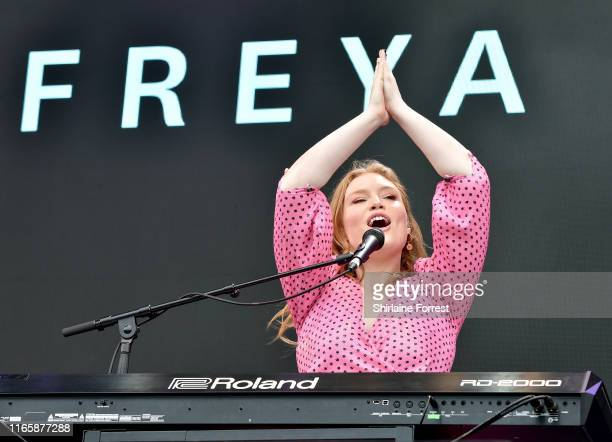 Freya Ridings performs during BBC Summer Social Festival 2019 at Croxteth Hall Country Park on August 03 2019 in Liverpool England