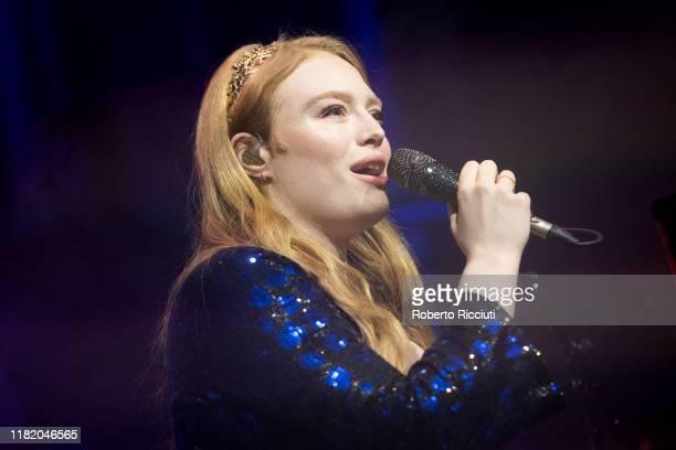 Freya Ridings performs on stage at O2 Academy Glasgow on November 12 2019 in Glasgow Scotland