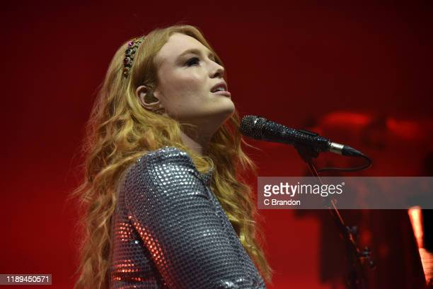 Freya Ridings performs on stage at the Eventim Apollo on November 22 2019 in London England