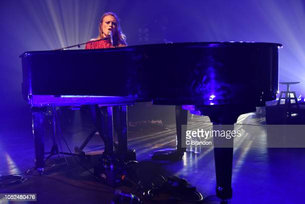 Freya Ridings performs on stage at the O2 Shepherd's Bush Empire on October 18 2018 in London England
