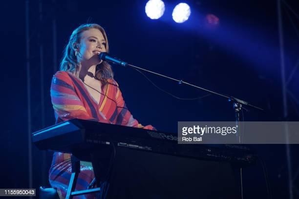 Freya Ridings performs on stage during Isle of Wight Festival 2019 at Seaclose Park on June 14 2019 in Newport Isle of Wight